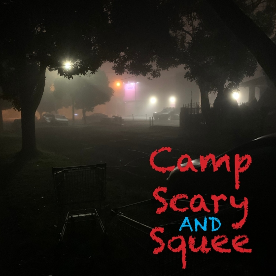 Camp, Scary and Squee Podcast logo
