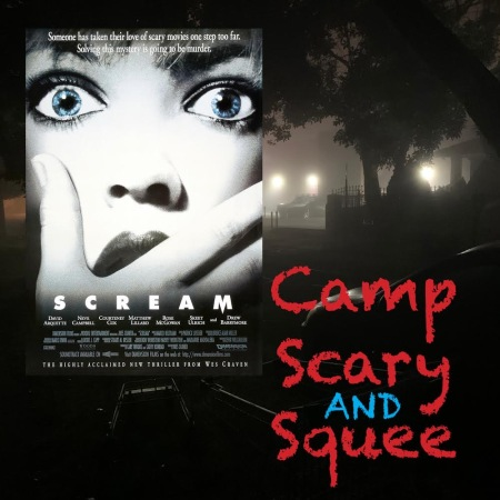 Camp, Scary and Squee Podcast logo for Episode 3: Scream (1996)