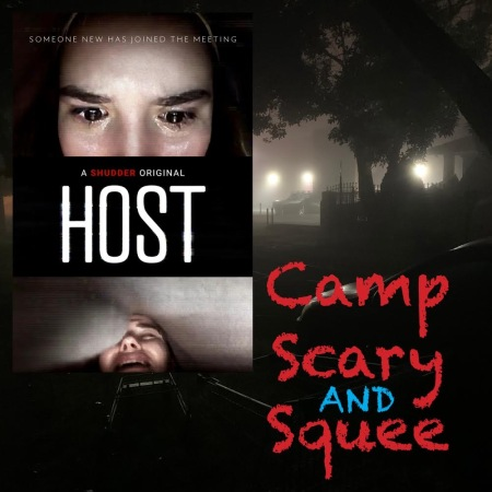 Camp, Scary and Squee Podcast logo for Episode 4: Host (2020)